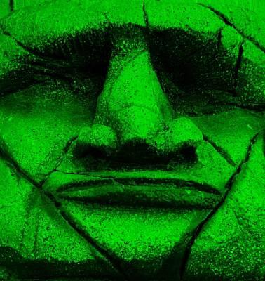 Moody Trees - Tiki Mask Green by Rob Hans