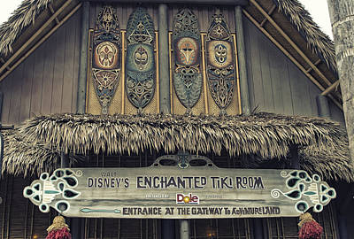 Bobsled Photograph - Tiki Room Adventureland Disneyland by Thomas Woolworth