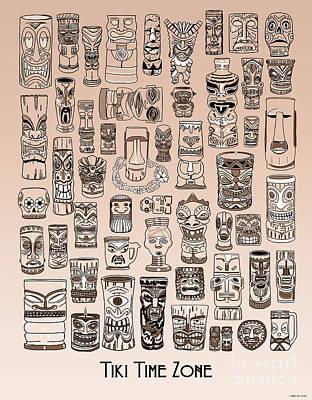 Digital Art - Tiki Sand Zone by Megan Dirsa-DuBois