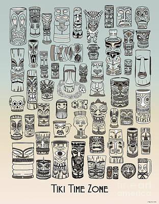 Digital Art - Tiki Time Zone by Megan Dirsa-DuBois