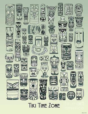 Digital Art - Tiki Treasure Zone by Megan Dirsa-DuBois