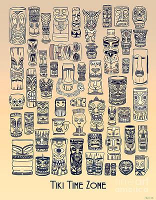 Digital Art - Tiki Vintage Zone by Megan Dirsa-DuBois