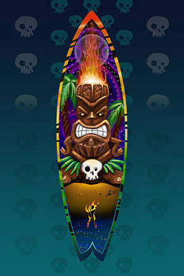 Digital Art - Tikistick by Doug Schramm