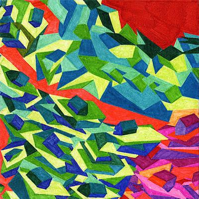 Tile 17 - A Red River Runs Through It Art Print by Sean Corcoran