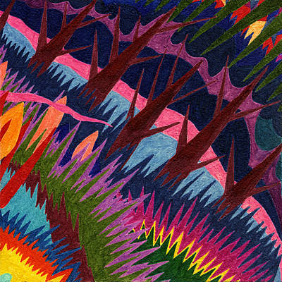 Mango Drawing - Tile 37 - These Woods Are Lovely by Sean Corcoran