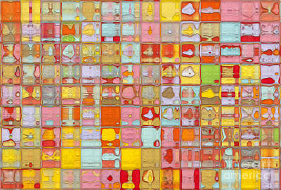 Red Cube Painting - Tile Art 3 2012 by Mark Lawrence