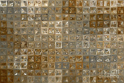 Beige Glass Painting - Tile Art 6 2013 Modern Mosaic Tile Art Painting by Mark Lawrence