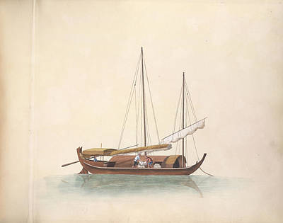 Illustration Technique Photograph - Tile-carrying Boat by British Library