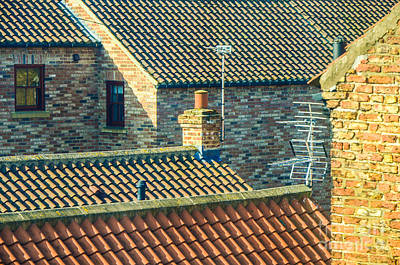 Photograph - Tile Roofs - Thirsk England by Mary Carol Story