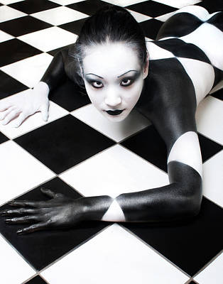 Nude Portraits Photograph - Tile Tales 3 by Derek Galon, Ma,