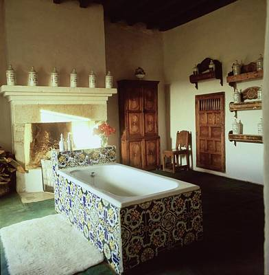 Photograph - Tiled Bathroom In Pascualete by Henry Clarke
