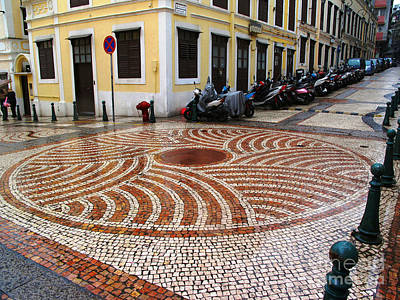 Photograph - Tiled Street II by Ethna Gillespie
