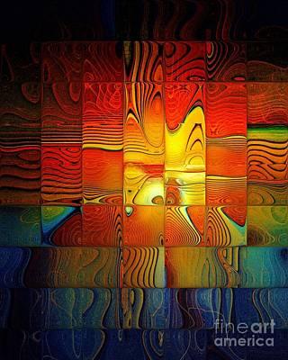 Framed Art Digital Art - Tiled Sunshine by Amanda Moore