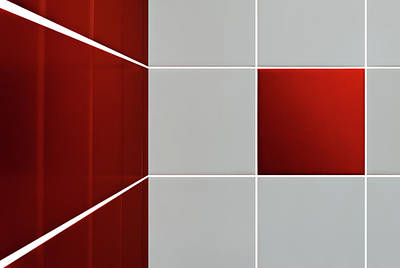 Geometric Photograph - Tiles by Marc Huybrighs