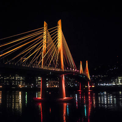 Photograph - Tilikum Crossing Flooded With Light by John Magnet Bell