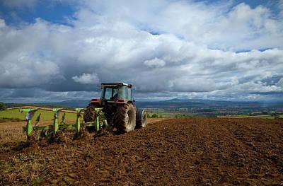 Tillage, Tractor Preparing Field Art Print