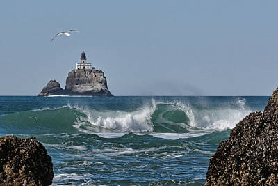 Photograph - Tillamook Head Wave 1 by Wes and Dotty Weber
