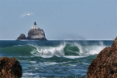 Photograph - Tillamook Head Wave by Wes and Dotty Weber