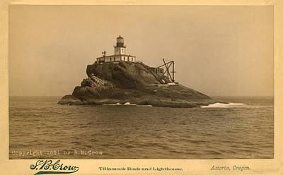 Tillamook Rock Lighthouse Drawing - Tillamook Rock Lighthouse by Jerry McElroy - Public Domain Image