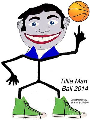 Seaside Heights Drawing - Tillie Man Ball by Eric  Schiabor
