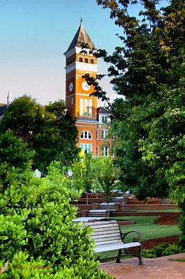 Clemson Wall Art - Painting - Tillman Hall Early Morning by Lynne Jenkins