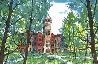 Tillman Hall Two Clemson Art Print