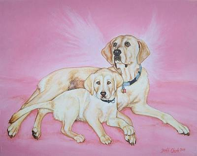 Tilly And Forrest Art Print by Beth Clark-McDonal