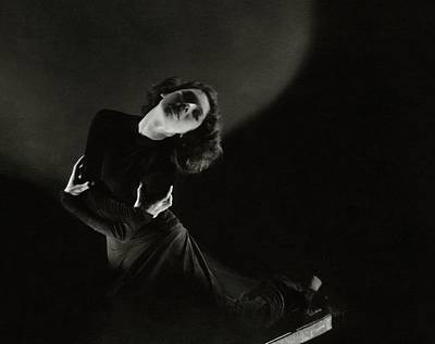 1930s Fashion Photograph - Tilly Losch Wearing A Dress by Edward Steichen