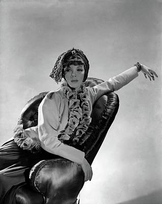 Tilly Losch Wearing A Turban Art Print by Horst P. Horst