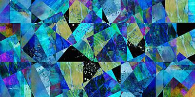 Avant Garde Mixed Media - Tilt In Blue - Abstract - Art by Ann Powell