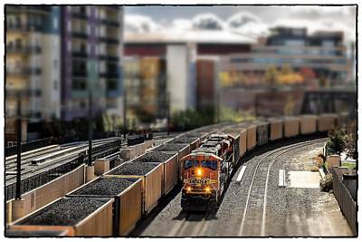Photograph - Tilt Shift Train In Denver by For Ninety One Days