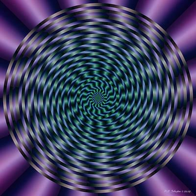 Digital Art - Tiltawhirl 3 by WB Johnston