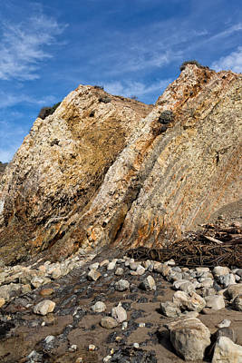 Photograph - Tilted Cenozoic Sedimentary Scarps At Ross Creek Beach by Kathleen Bishop