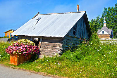 Tilted Shed In Old Town Kenai-ak Art Print by Ruth Hager