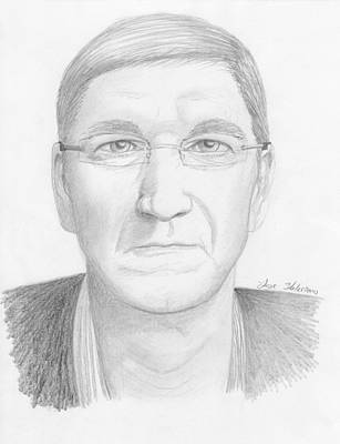 Drawing - Tim Cook by M Valeriano