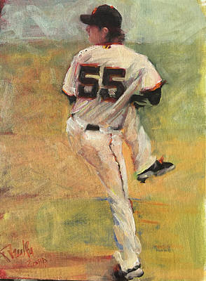 Tim Lincecum Painting - Another No No by Darren Kerr