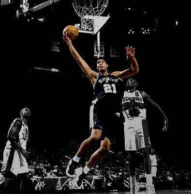 Tim Duncan All Star Game Art Print by Brian Reaves