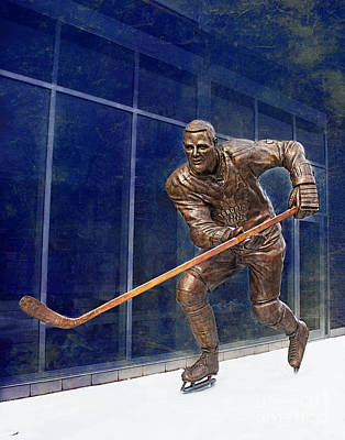 Photograph - Tim Horton Bronze Statue by Barbara McMahon