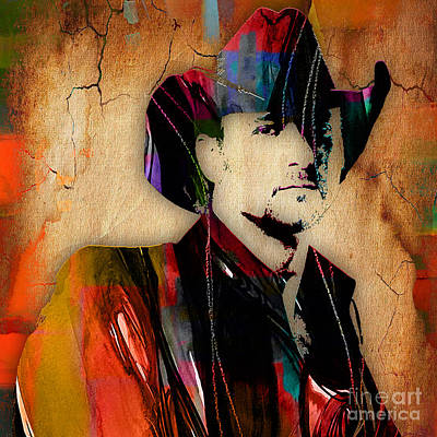 Poster Mixed Media - Tim Mcgraw Collection by Marvin Blaine