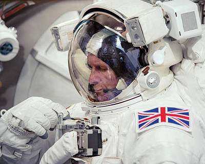 Astronauts Photograph - Tim Peake by Bill Stafford/nasa