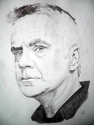 Tim Robbins Art Print by Robert Lance