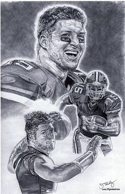 Tim Tebow Drawing - Tim Tebow by Jonathan Tooley