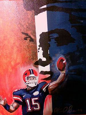 Tebow Painting - Tim Tebow by Ottoniel Lima
