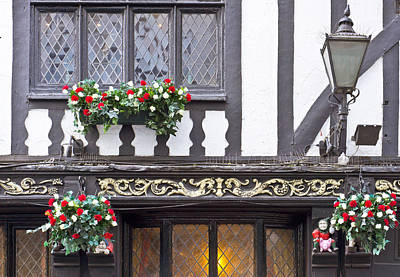Hanging Baskets Photograph - Timber Building by Tom Gowanlock