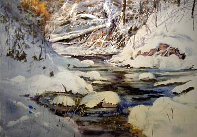 Painting - Timber Creek Winter by Joseph Barani