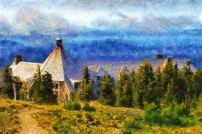 Timberline Lodge Art Print