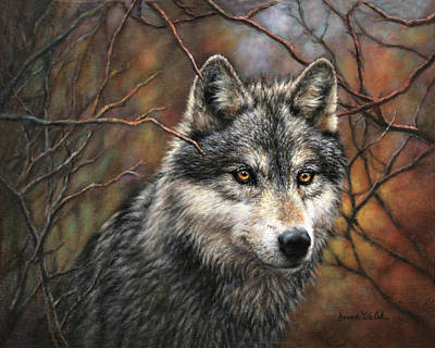 Walsh Painting - Timber Wolf by Donna  Hillman Walsh