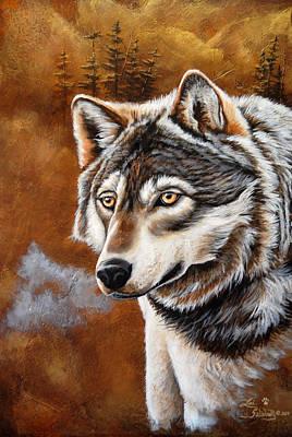 Painting - Timber Wolf by Lori Salisbury