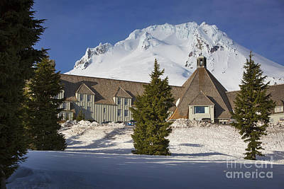 Photograph - Timberline Lodge by Brian Jannsen