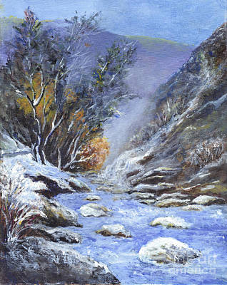 Painting - Winter In Sequoia National Park by Carol Wisniewski